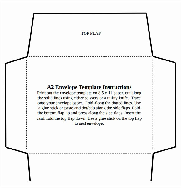 A2 Envelope Template Word Best Of 8 Sample A2 Envelope Templates