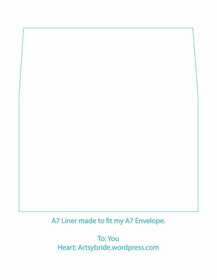 A7 Envelope Liner Template Awesome A7 Envelope Liner Template Printables