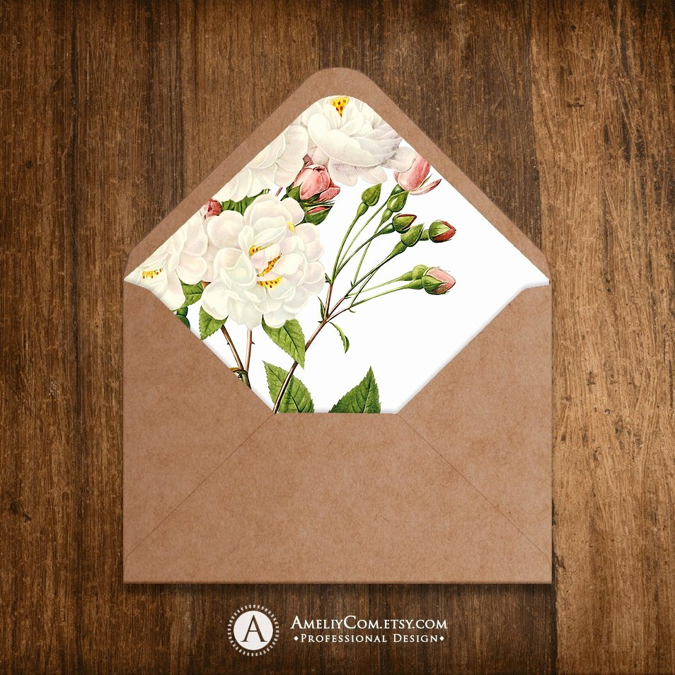 A7 Envelope Liner Template Awesome Printable Envelope Liner Template Instant Download for A6 and