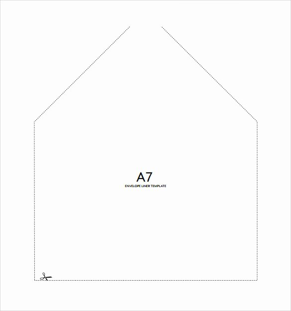 A7 Envelope Liner Template Best Of 9 Sample A7 Envelopes