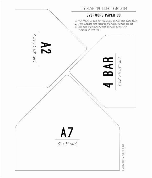 A7 Envelope Liner Template Elegant 9 Envelope Liner Templates Download for Free