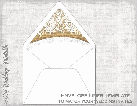 A7 Envelope Liner Template Inspirational Rustic Wedding Envelope Liner Template Burlap