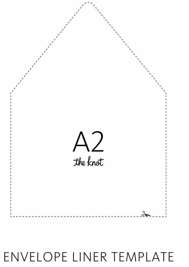 A7 Envelope Liner Template Luxury the Knot Envelope Liner Template