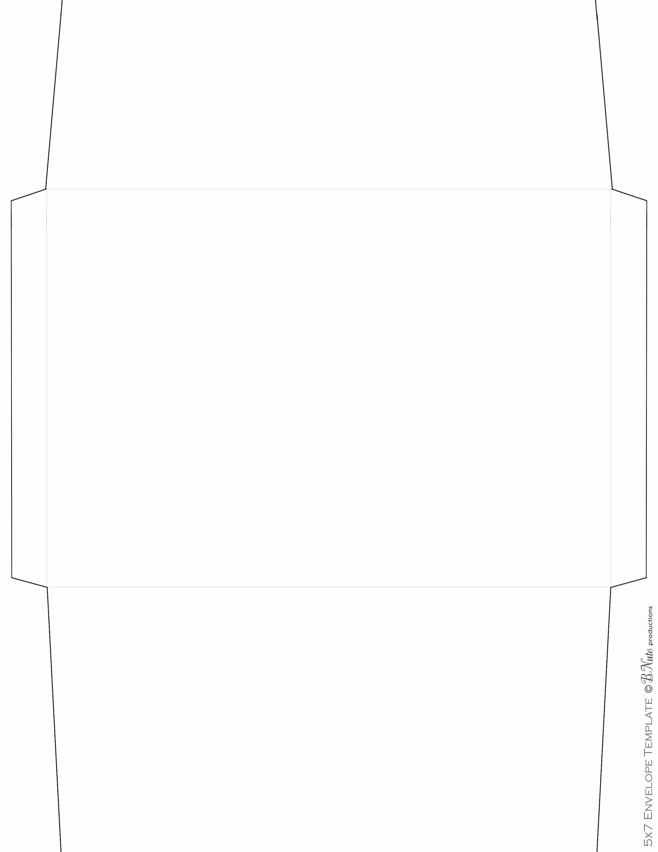 a7 envelope liner template