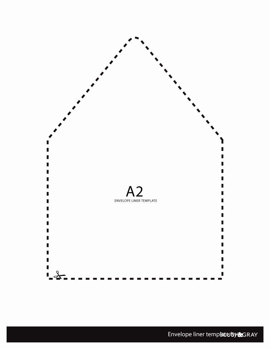 A7 Envelope Liner Template Unique Envelope Envelope Liner Template