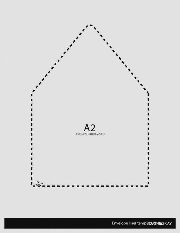 A7 Envelope Liner Template Unique Envelope Liner Template