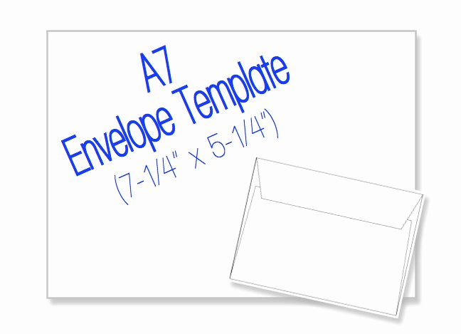 A7 Envelope Template Word Fresh A7 Envelope 7 1 4 X 5 1 4 Blank by Heritageexpressions On Etsy