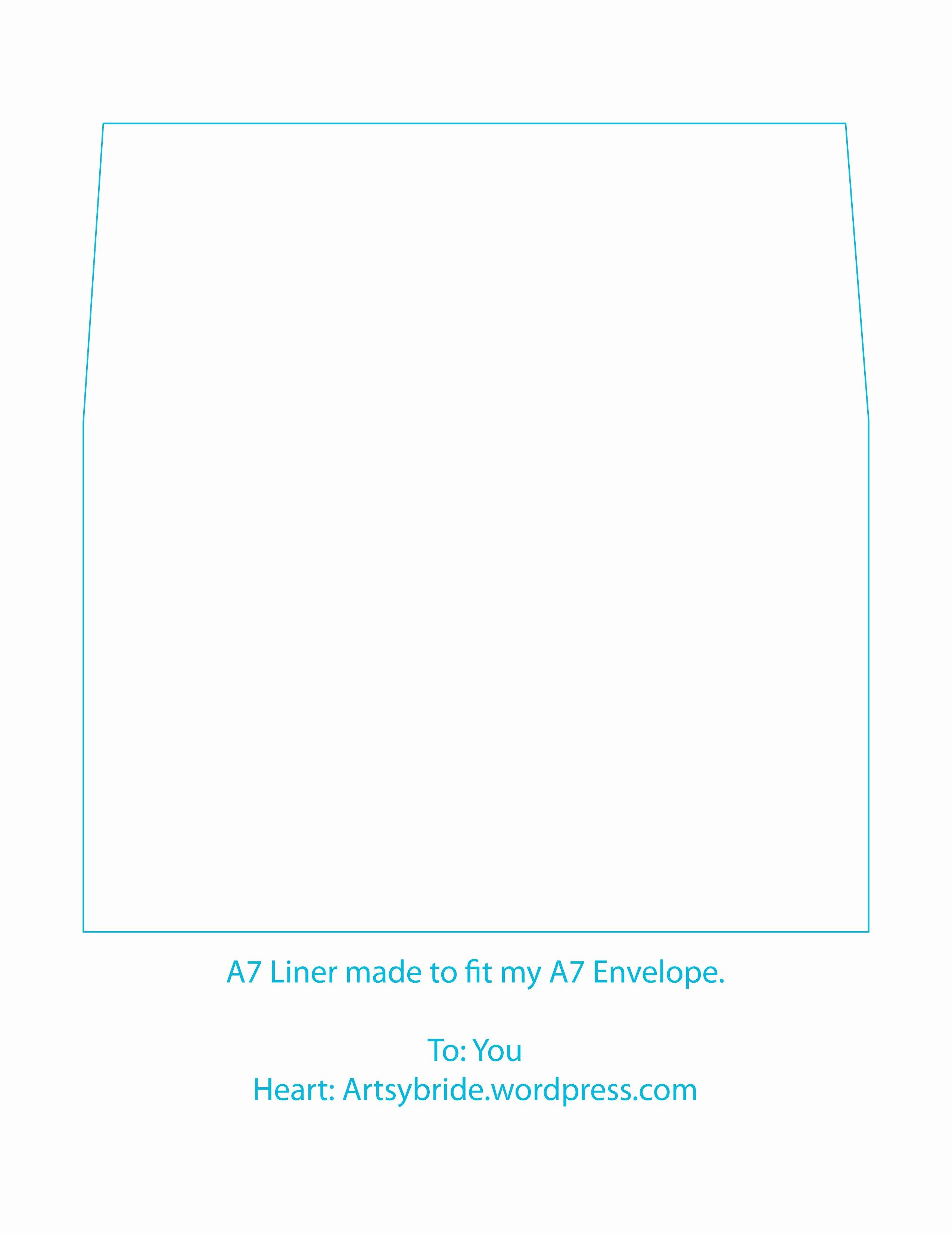 A7 Envelope Template Word Fresh Diy – Envelopes & Liners