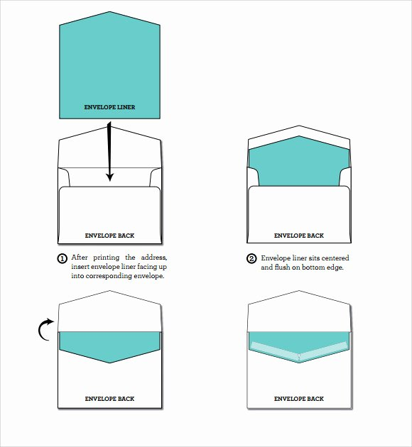 A7 Envelope Template Word Luxury A7 Square Flap Envelope Liner Template