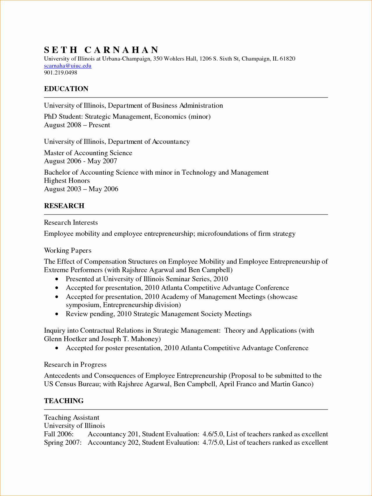 Academic Curriculum Vitae Template Beautiful Academic Cv Template Business Proposal Templated