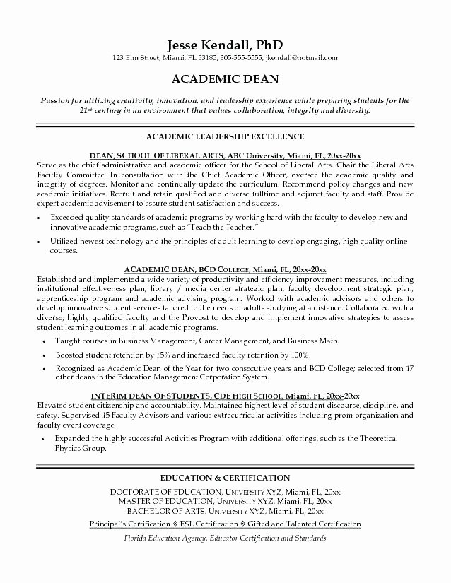Academic Cv Template Word New Academic Resume Template Word for College Templates