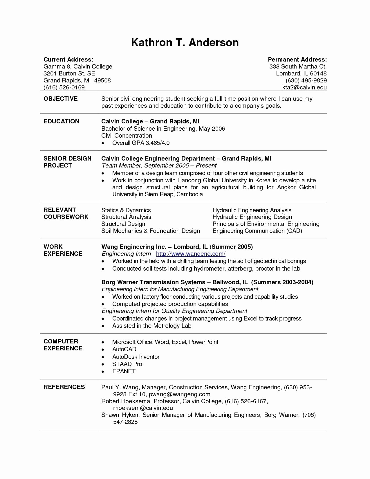 Academic Resume Template Word Lovely College Student Resume Template Word