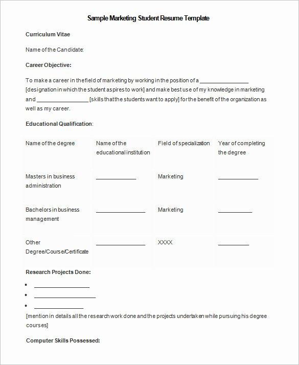 Academic Resume Template Word Luxury 34 Microsoft Resume Templates Doc Pdf