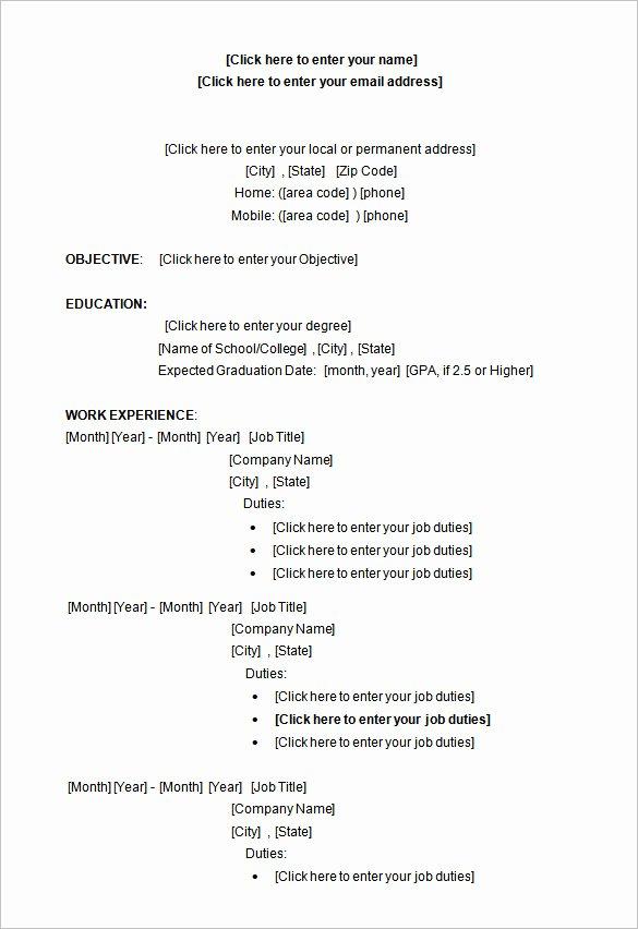 Academic Resume Template Word New 34 Microsoft Resume Templates Doc Pdf