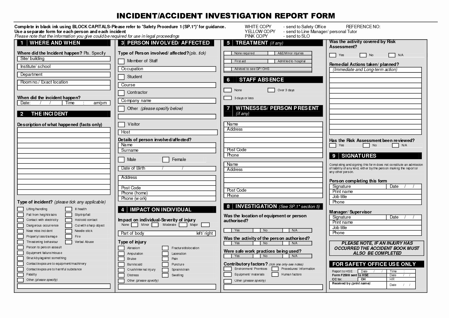 Accident Investigation form Template Luxury Best S Of Accident Investigation Report Template