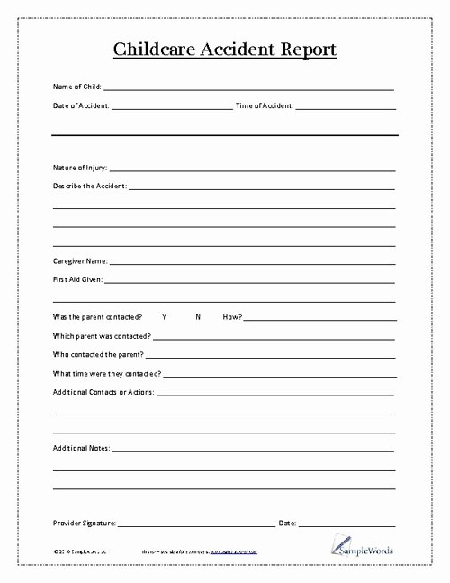 Accident Report form Template Best Of Best S Of Printable Incident Report Template