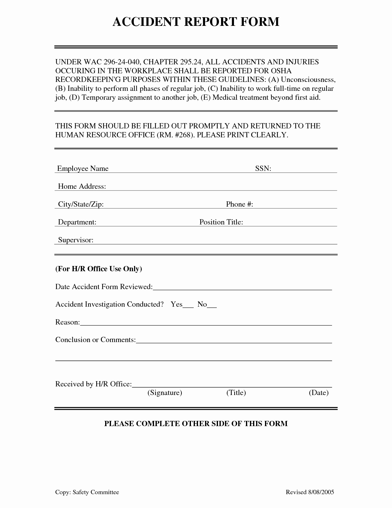 Accident Report form Template Best Of Best S Of Work Incident Report form Workplace
