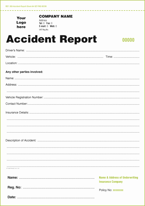 Accident Report form Template Inspirational Templates for Accident Report Book and Vehicle Condition