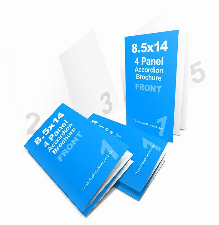 4 panel 8 5x14 accordion fold brochure mockup set pt 1