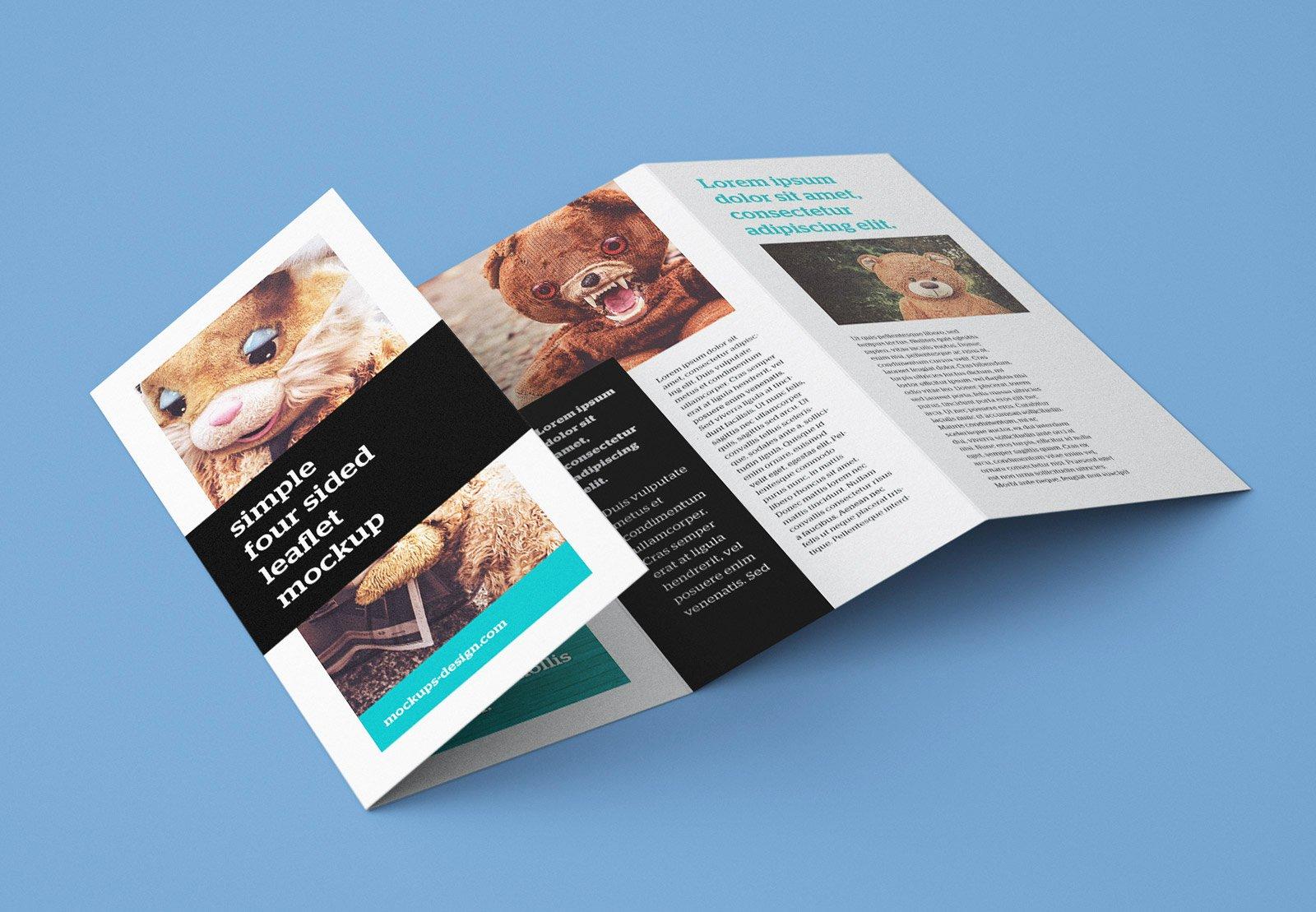 Accordion Fold Brochure Template Unique Free Accordion 4 Fold Brochure Leaflet Mockup Psd