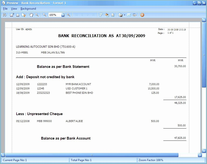 Account Reconciliation Template Excel Fresh Account Reconciliation Template Minimalist Bank