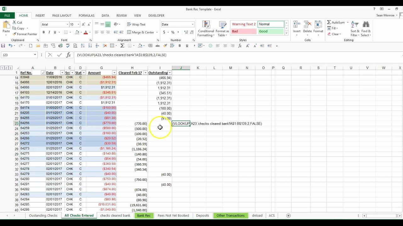 Account Reconciliation Template Excel Unique Checking Account Worksheets for Students and Math
