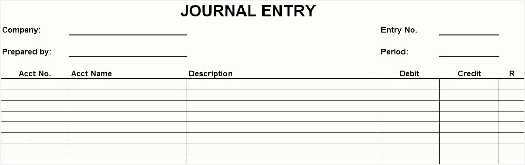 Accounting Journal Entry Template Beautiful Accounting forms Templates Journal Entries