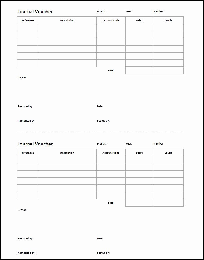 Accounting Journal Entry Template Fresh Journal Voucher Template
