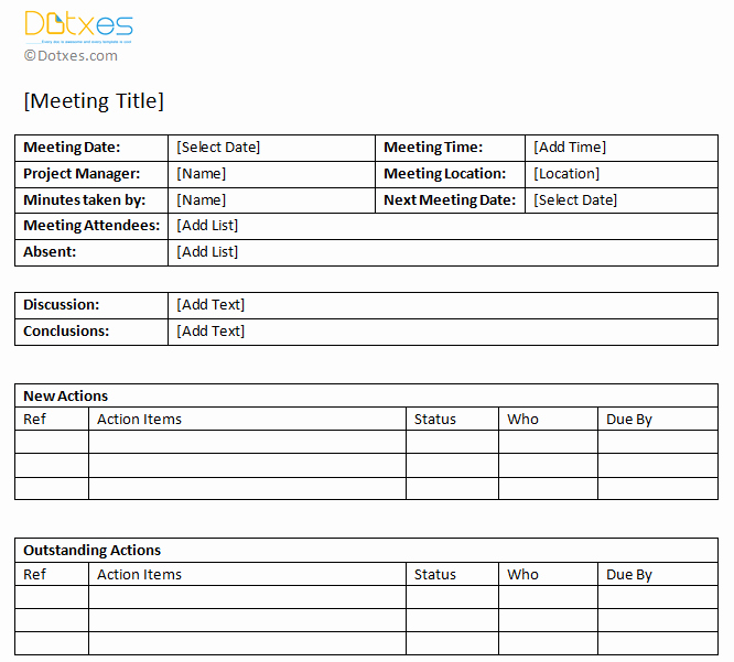 Action Item Template Word Lovely Minutes Of Meeting Sample with Action Item List Dotxes