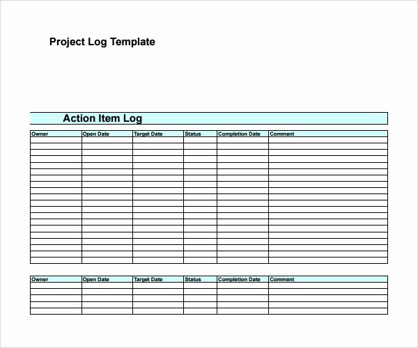 Action Item Template Word New 9 Action Log Templates to Download