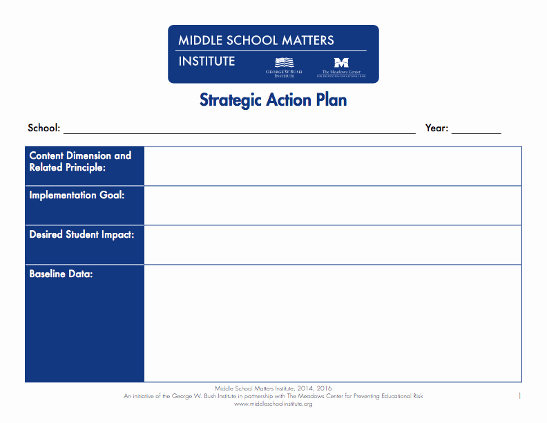 Action Plan Template Education Best Of Action Plan Templates Pdf and Fixable forms From Middle