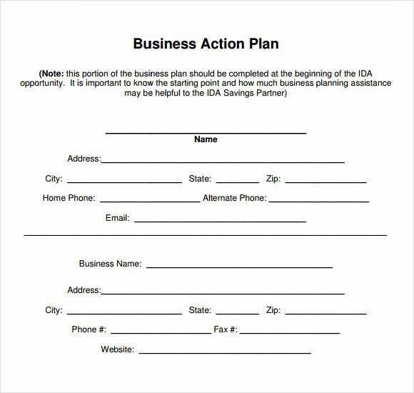 Action Plan Template Pdf Awesome 11 Sample Business Action Plans