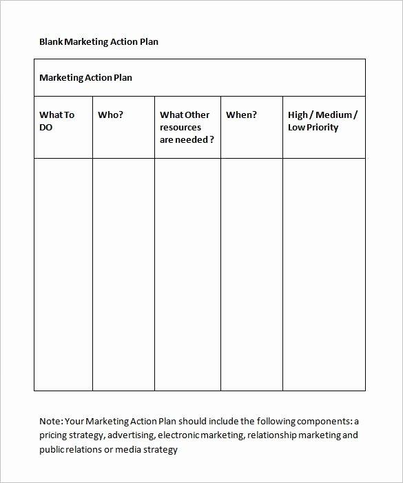 Action Plan Template Pdf Beautiful Marketing Action Plan Template 11 Free Word Excel Pdf