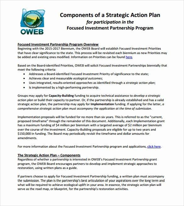 Action Plan Template Pdf Elegant 10 Sample Strategic Action Plans