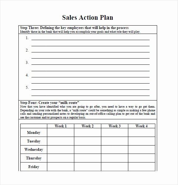 Action Plan Template Pdf Inspirational 10 Sales Plan Samples
