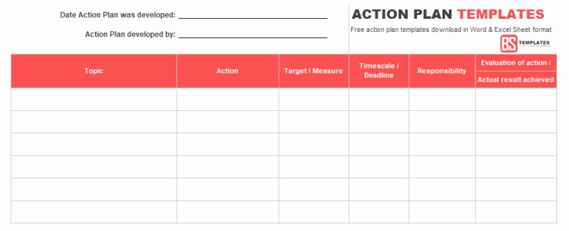 Action Plan Template Pdf Inspirational Action Plan Templates – Free Templates [word
