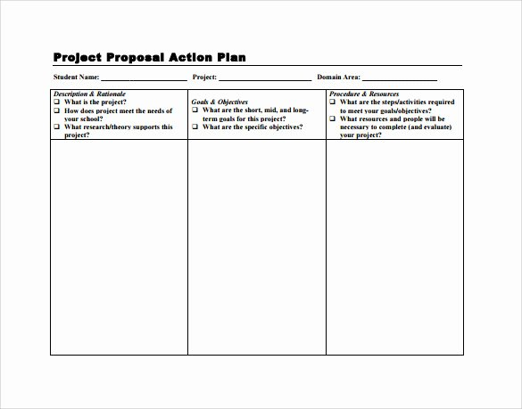 Action Plan Template Pdf New Sample Project Action Plan Template 16 Documents In Pdf