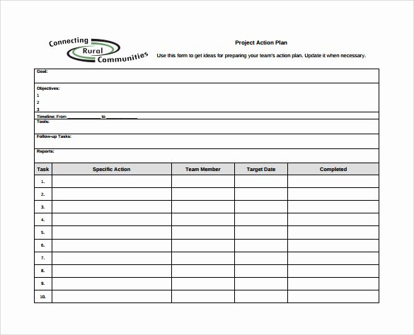 Action Plan Template Word Awesome Sample Project Action Plan Template 16 Documents In Pdf