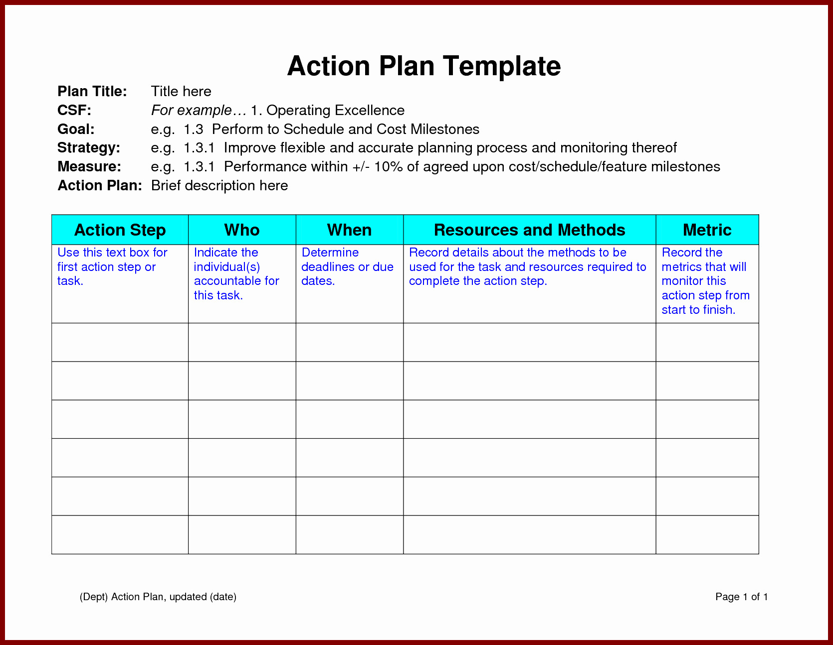 Action Plan Template Word Elegant Action Plan Template Word Example Mughals