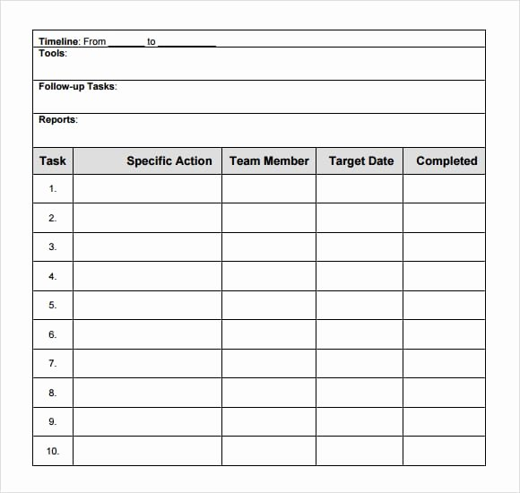 Action Plan Template Word New 8 Action Plan Templates Excel Pdf formats