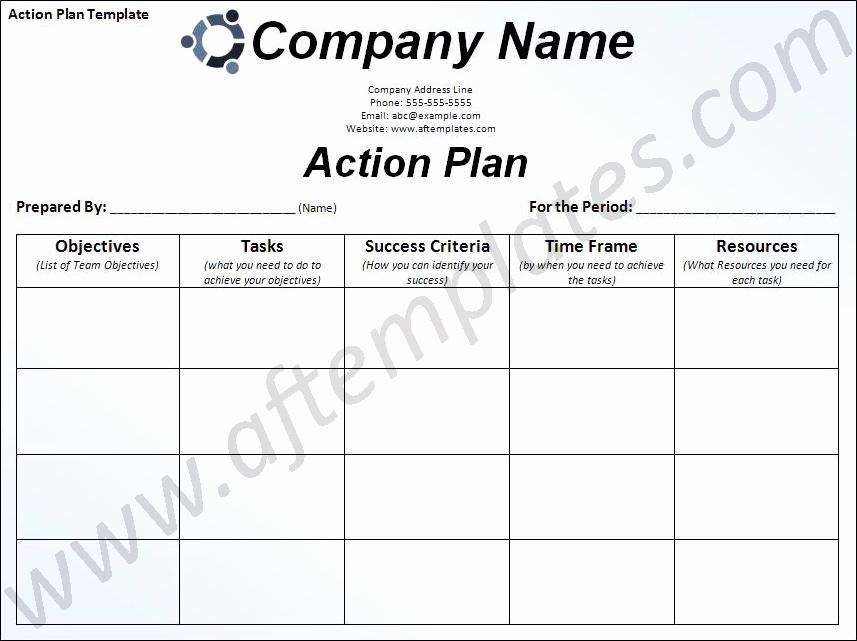 Action Plan Template Word Unique Action Plan Template