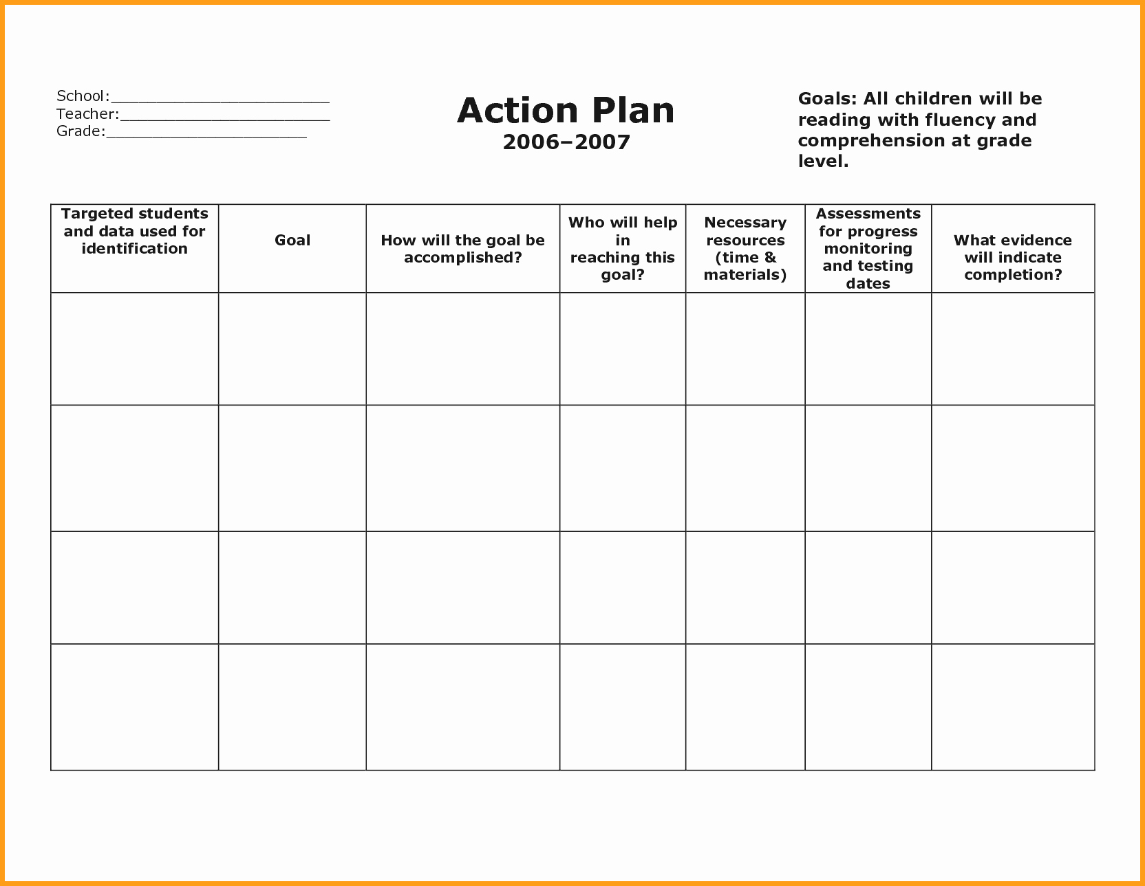 Action Plan Template Word Unique Action Plan Templates Example Mughals