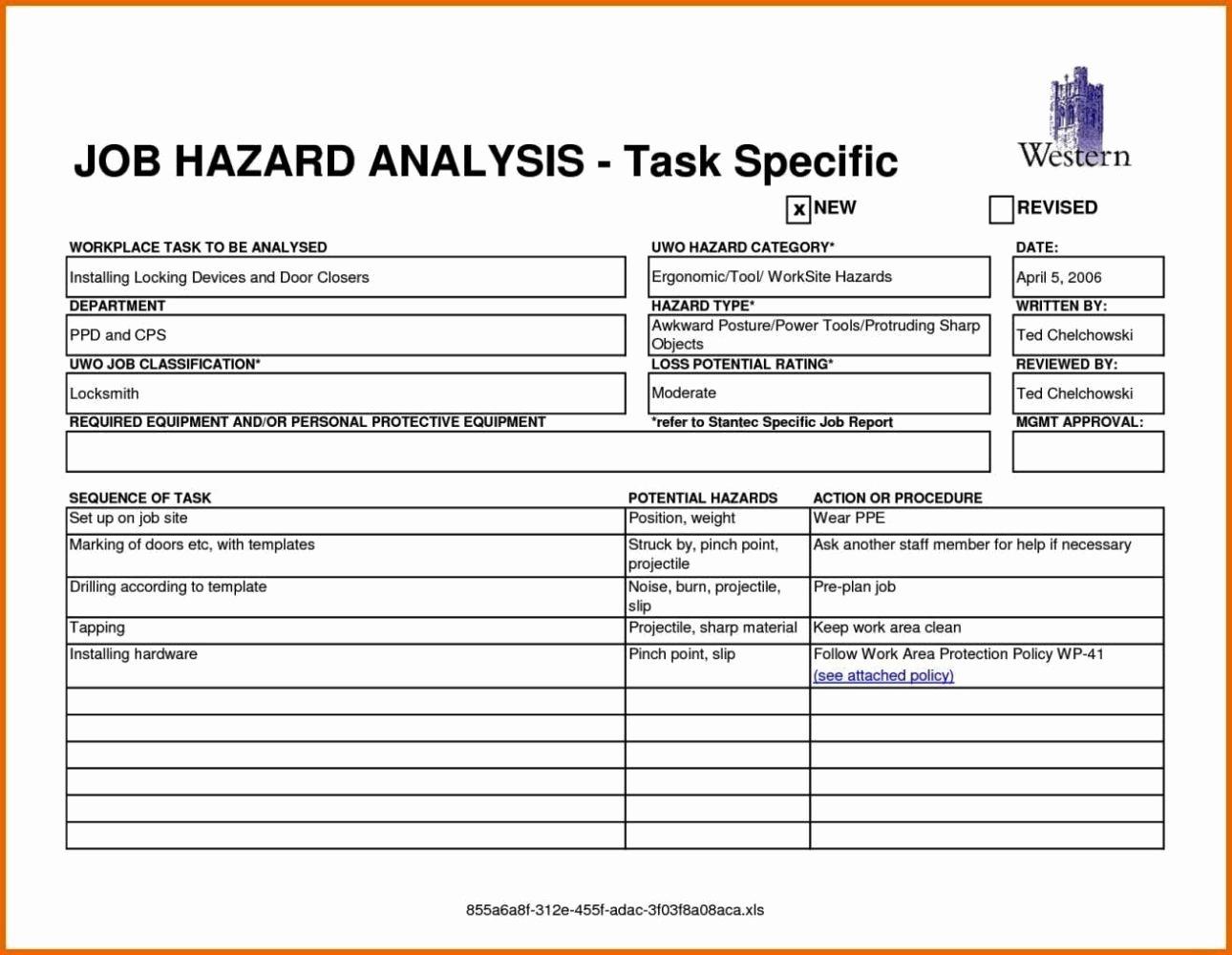Activity Hazard Analysis Template Best Of Activity Hazard Analysis Templates Sampletemplatess