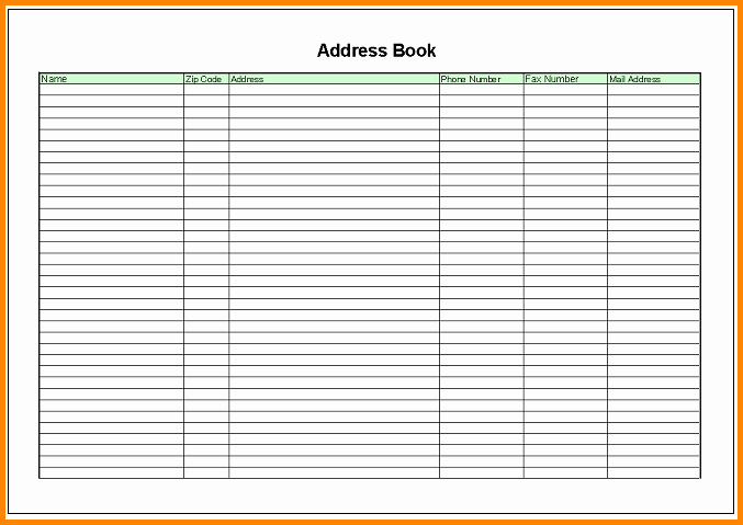 Address Book Template Excel Lovely List Of Synonyms and Antonyms Of the Word Memo Address