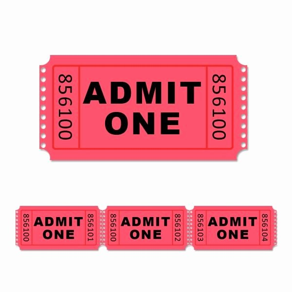 Admit One Ticket Template Beautiful 1000 Ideas About Ticket Template On Pinterest