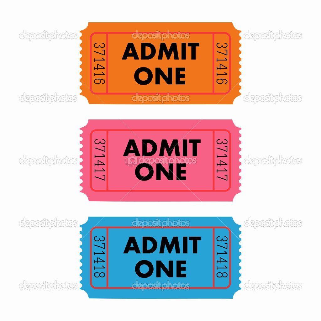 Admit One Ticket Template Elegant Admit One Ticket Template Free Printable