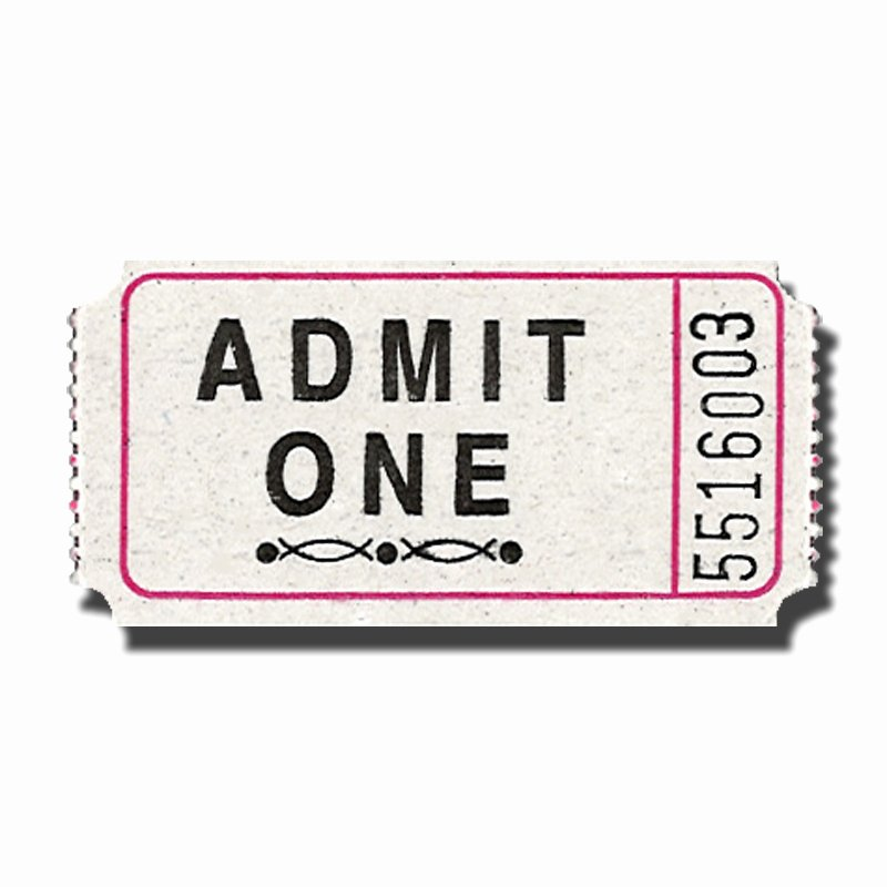 Admit One Ticket Template Luxury Admit E Ticket Template Clipart Best