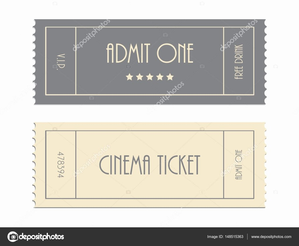 Admit One Ticket Template Luxury Special Vector Ticket Template Admit One Cinema Ticket
