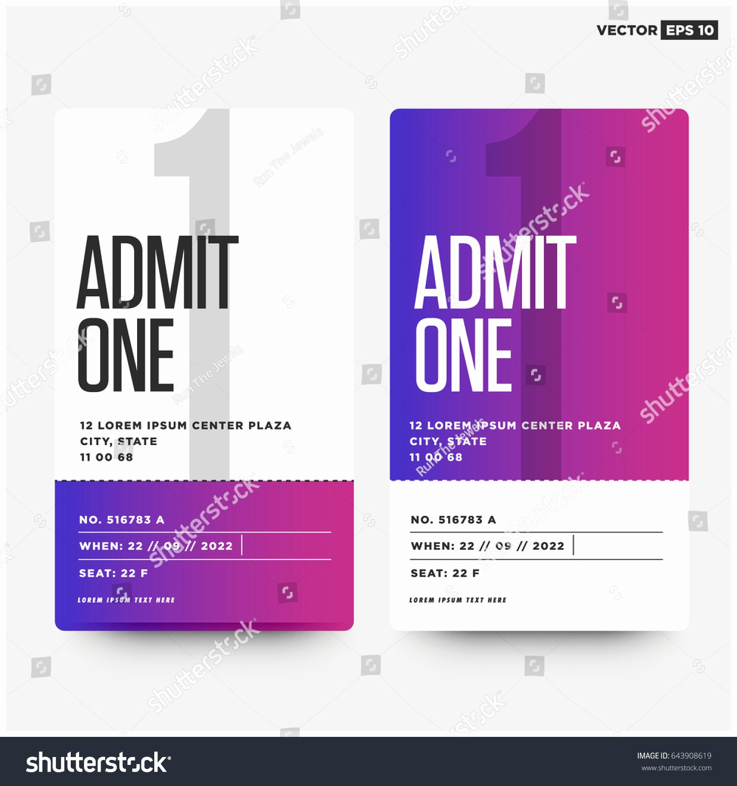 Admit One Ticket Template New Admit E Template Portablegasgrillweber