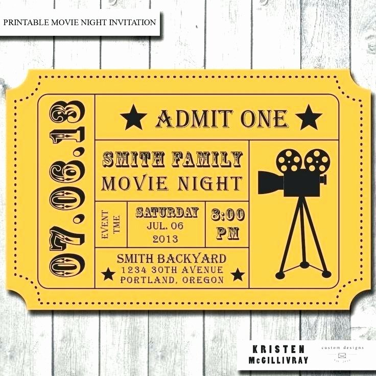 Admit One Ticket Template Unique Extraordinary Admit E Movie Ticket Template Free